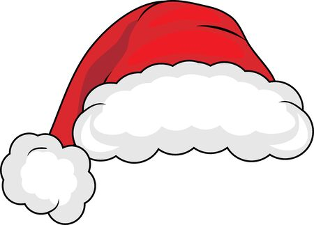 Santa claus hat isolated on white Stock Vector - 135354166