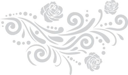 Light gray ornamental vintage element Illustration