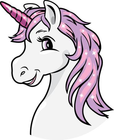 Portrait of a smiling unicorn