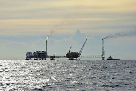 Olie en gas boorplatform