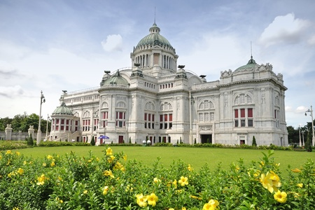 The Ananta Samakhom throne hall in thailand 版權商用圖片