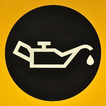 Check Fuel Symbol 스톡 콘텐츠