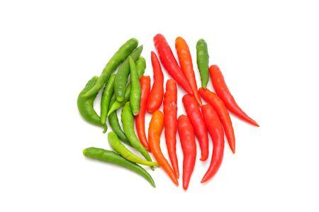hot thai chilli on white background