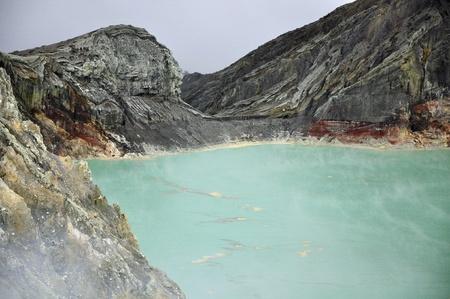 Kawah Ijen vulkaan op Indonesië