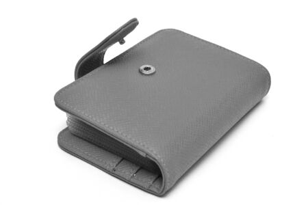 leather cards holder on a white background Stock Photo - 10880504