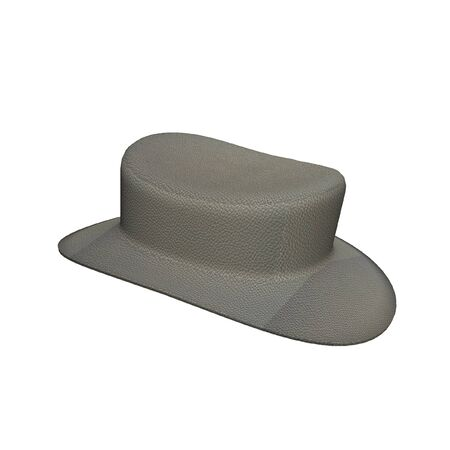 stetson: Gray Hat leather isolated on the white background