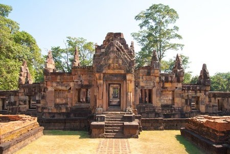 tam: Maung Tam Castle at Thailand Stock Photo