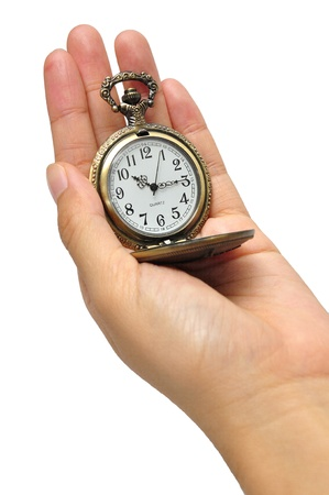 hand with vintage clock Stock Photo - 10880064