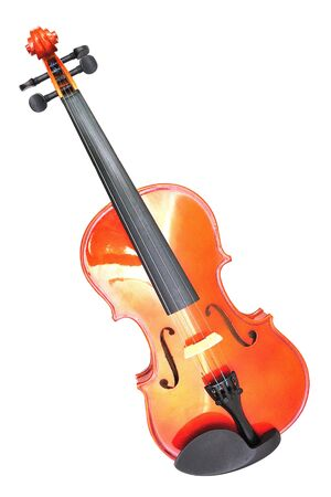 violin isolated on white background photo