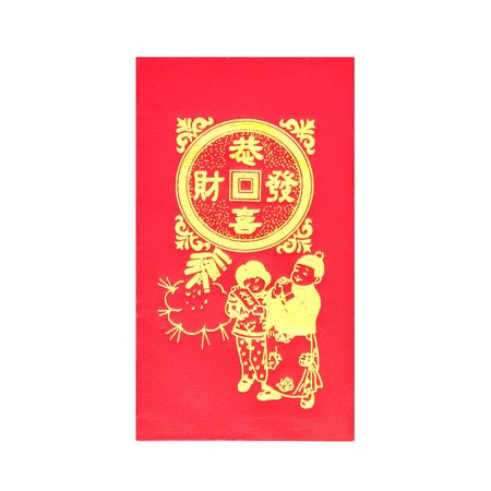 Rode enveloppen voor Chinees Nieuwjaar op witte achtergrond