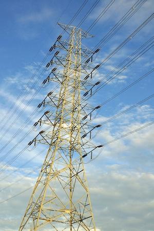 Power Transmission Line Stockfoto