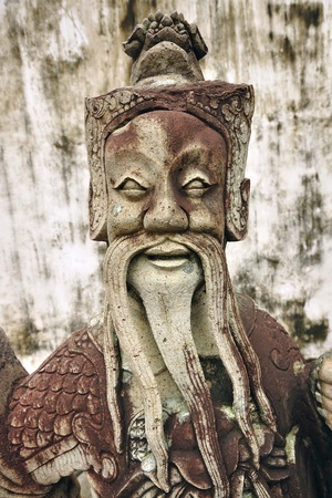 chinese old statue