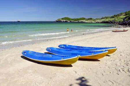 canoe at beach photo
