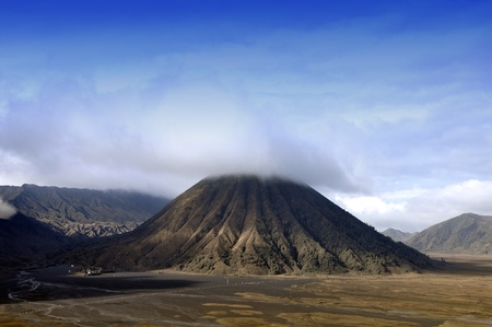 Batok Volcanos form Indonesia.  Stock Photo