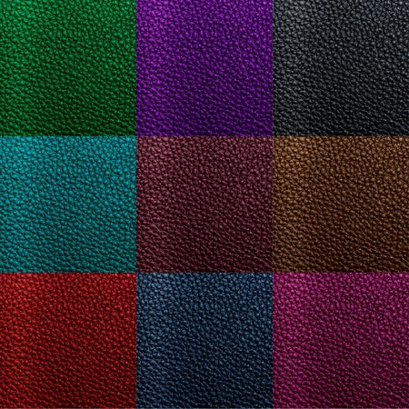 blue leather sofa: multicolor leather texture Stock Photo
