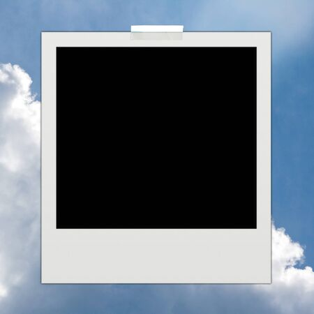 instant photo on sky background  Stock Photo - 11013308