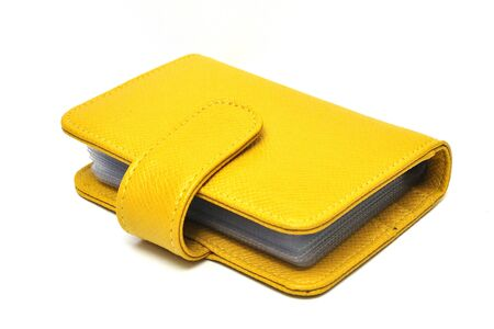 leather cards holder on a white background Stock Photo - 11080498