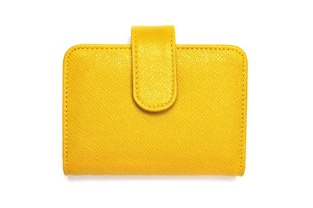 leather cards holder on a white background  스톡 콘텐츠