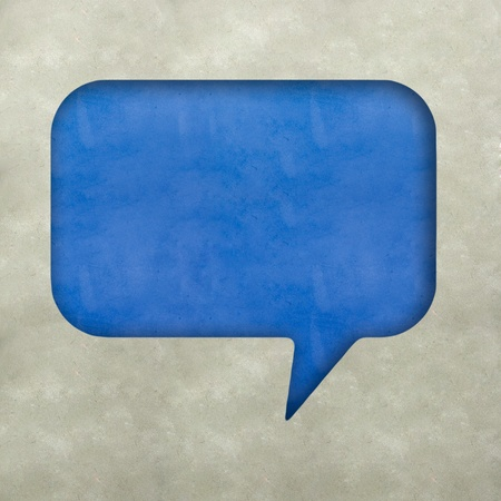 Plasticine bubble speech on plasticine texture background  Stock Photo