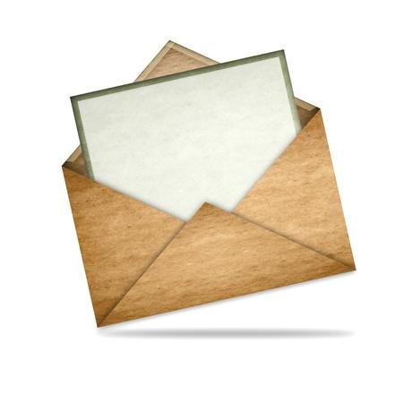 Envelop met blanco papier Stockfoto