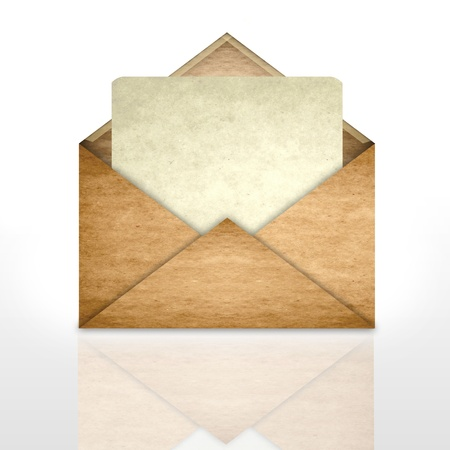 Envelope with blank paper photo
