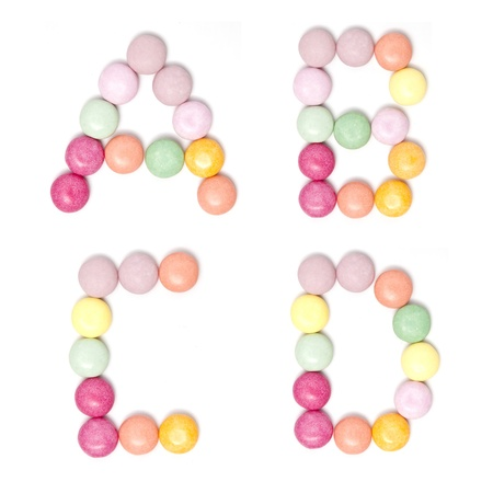 Colorful Candy alphabet set  photo