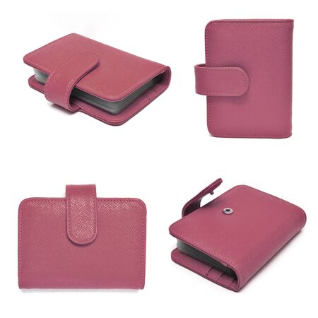 leather cards holder set on a white background Stock Photo - 12994532