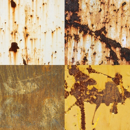 さびた金属の質感コレクションに 写真素材