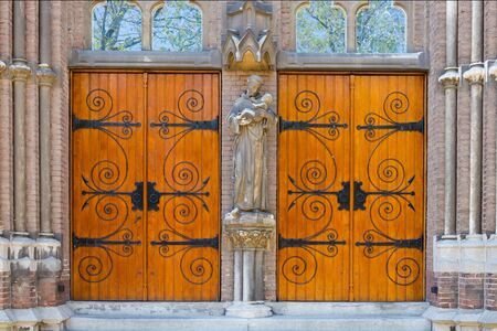 Vintage wooden Church Door photo