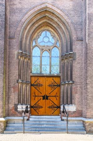 Vintage wooden Church Door photo