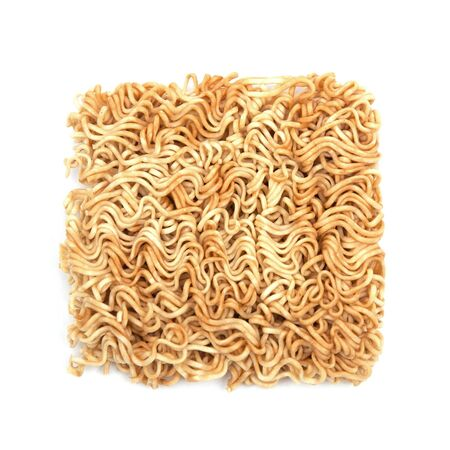 Instant noodles on white background Stock Photo - 14210944
