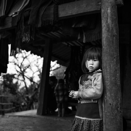 Unidentified H mong s child in Sa Pa, Vietnam December 04, 2012  Sapa is a mountain town in Vietnam and H mong are the 8th largest ethnic group in Vietnam  Editorial
