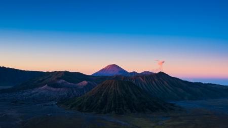 tengger: Mount Bromo volcanoes in Bromo Tengger Semeru National Park, East Java, Indonesia.
