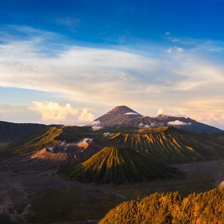 vulcano: Mount Bromo volcanoes in Bromo Tengger Semeru National Park, East Java, Indonesia