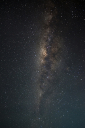 astrophotography: Colorful space shot of milky way galaxy with stars and space dust