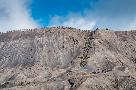 Mount Bromo volcanoes in Bromo Tengger Semeru National Park, East Java, Indonesia  photo