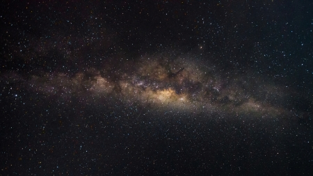 Colorful space shot of milky way galaxy with stars and space dust   photo