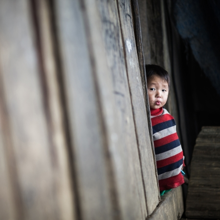 SAPA, VIETNAM - DEC 04  Unidentified kid