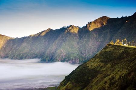 tengger: Mountain near Mount Bromo in Bromo Tengger Semeru National Park, East Java, Indonesia Stock Photo