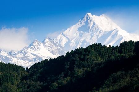 Mount Kanchenjunga range of the himalayas at Sikkim , India Stock Photo - 22780657