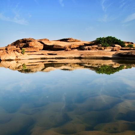 riverbed: Sam panbok rock field, Grand canyon in Thailand Stock Photo
