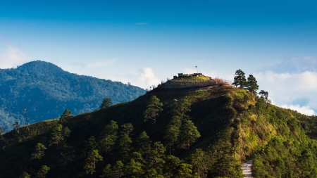 Viewpoint of nature on the hill at Doi Ang Khang mountains. Chiang Mai. Thailand photo