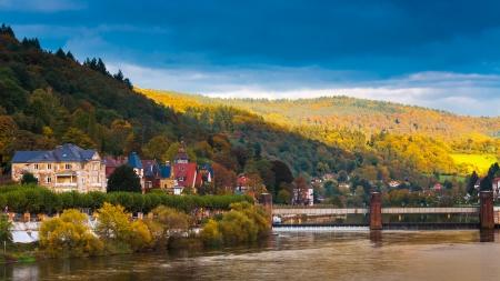 Gezicht op Heidelberg, Duitsland