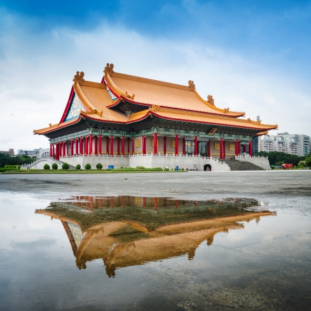 TAIPEI, TAIWAN - May 23: Chiang Kai Shek memorial hall, Taiwan May 23, 2013. A famous monument, landmark and tourist attraction erected in memory of Generalissimo Chiang Kai-shek