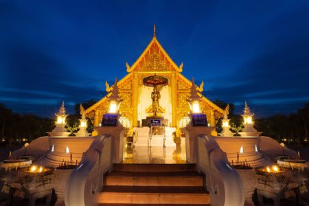 Prasing Temple on twilight time at Chiang Mai , Thailand photo