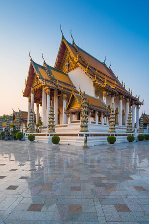 thep: Wat Suthat Thep Wararam temple in Bangkok Thailand Stock Photo