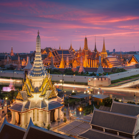 thai temple: Temple of the Emerald Buddha in Bangkok, Thailand Editorial