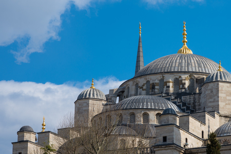 ottoman empire: Blue mosque at Istanbul, Turkey. The biggest mosque in Istanbul of Sultan Ahmed (Ottoman Empire).