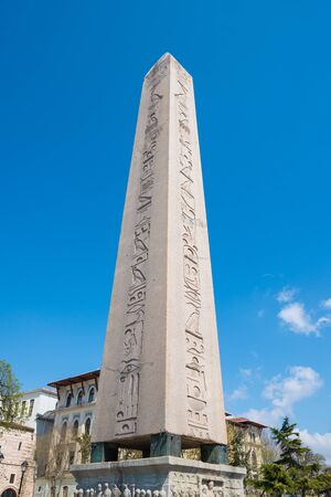 Obelisk in Hippodrome of Constantinople in Sultan Ahmet Square, Istanbul, Turkey photo
