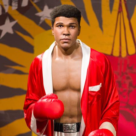 Muhammad Ali waxwork figure at Madame Tussauds Wax Mueum, Thailand
